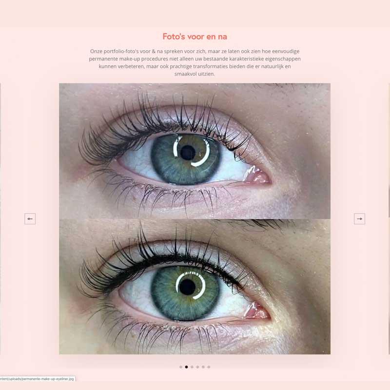 voor en na foto's permanente make-up België